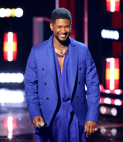 LOS ANGELES, CALIFORNIA - MAY 27: (EDITORIAL USE ONLY) Host Usher speaks onstage at the 2021 iHeartR...