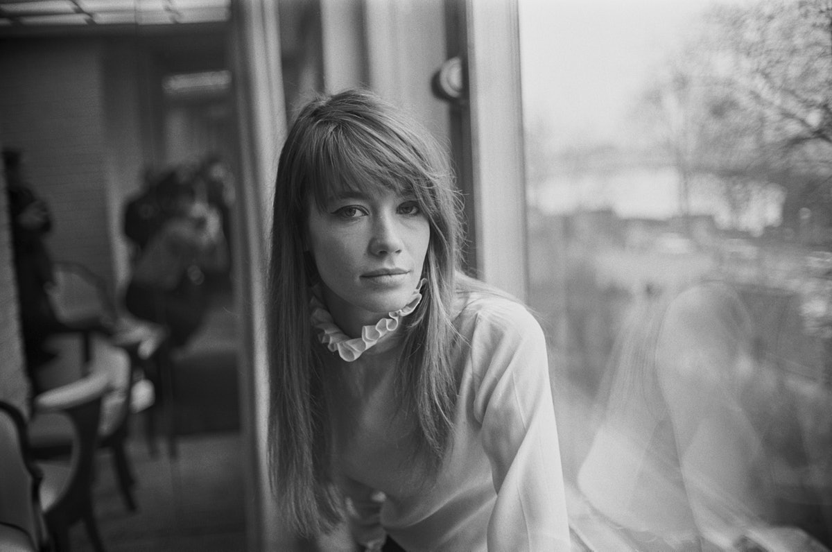 French singer-songwriter Francoise Hardy, UK, 9th February 1968. (Photo by Daily Express/Getty Image...