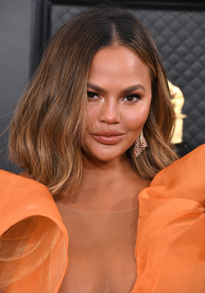 LOS ANGELES, CALIFORNIA - JANUARY 26: Chrissy Teigen arrives at the 62nd Annual GRAMMY Awards at Staples Center on January 26, 2020 in Los Angeles, California. (Photo by Steve Granitz/WireImage)