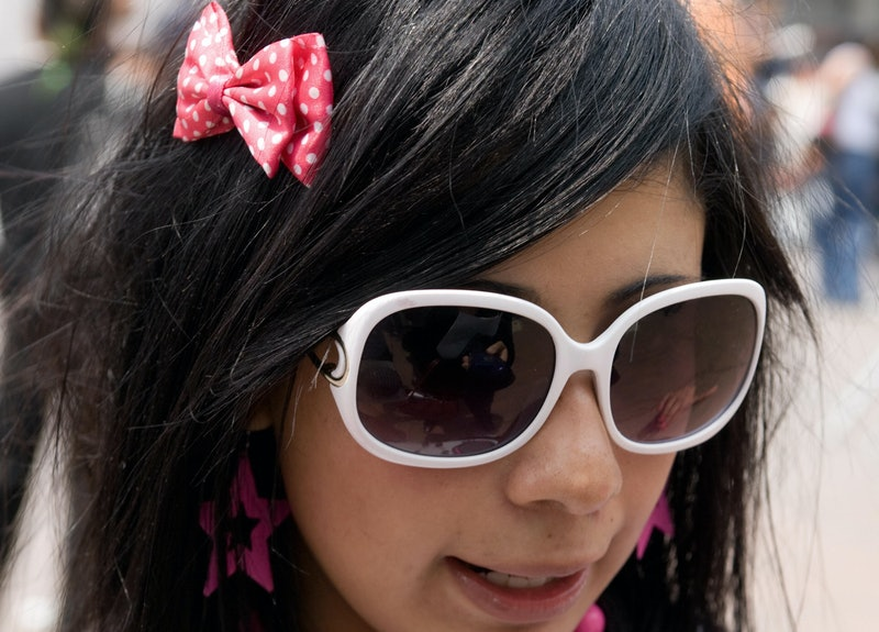 """TO GO WITH AFP STORY A girl belonging to the """"emo"""" urban tribe, at Glorieta de los Insurgentes in Me..."""
