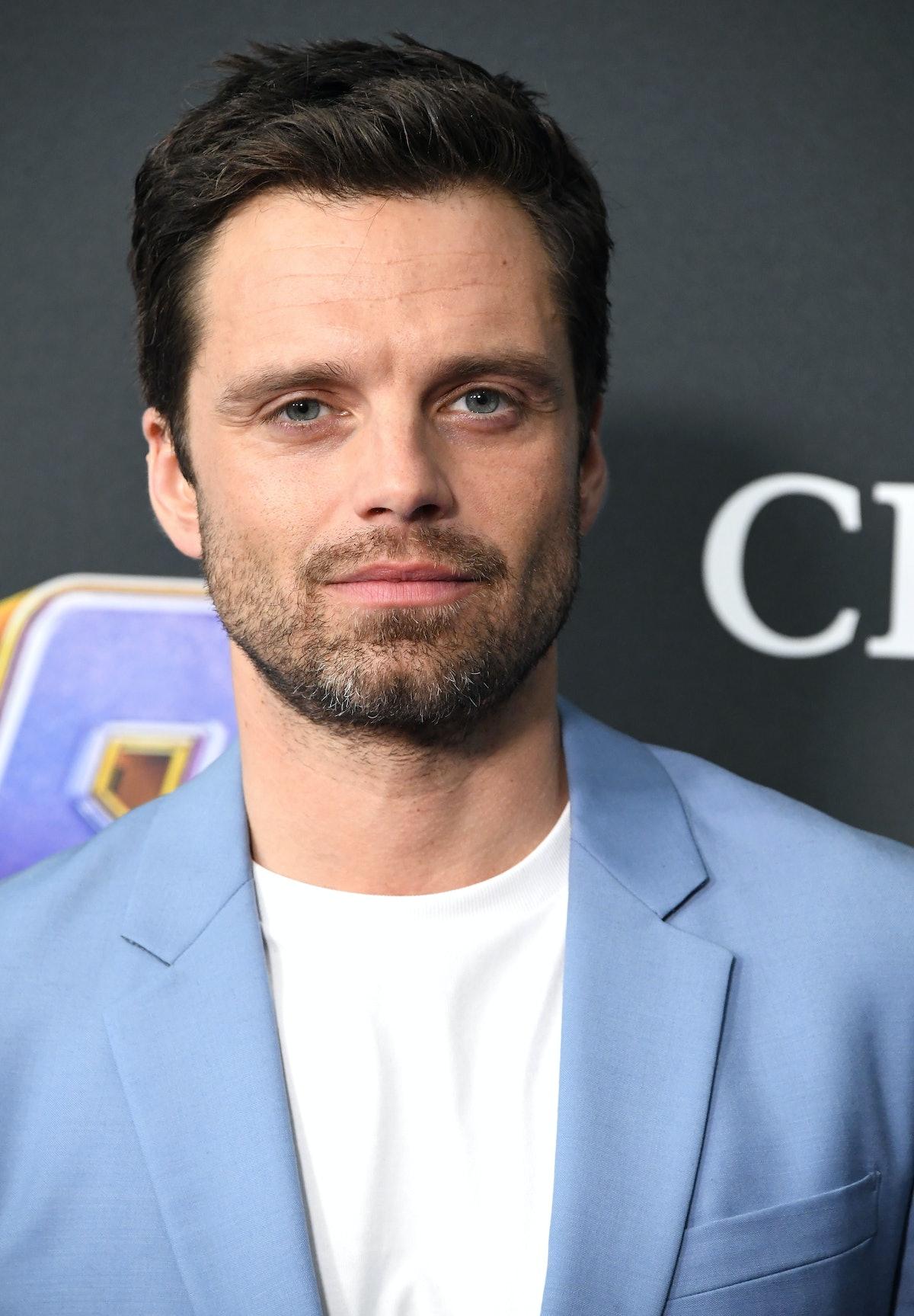 """Sebastian Stan attends the premiere of """"Avengers: Endgame"""" in 2019."""