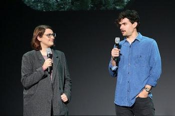 ANAHEIM, CALIFORNIA - AUGUST 23: (L-R) Director Kate Herron and Writer Michael Waldron of 'Loki' too...