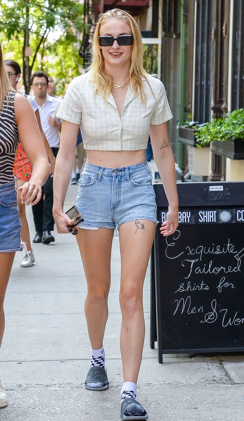 NEW YORK, NY - AUGUST 20: Sophie Turner is seen on August 20, 2019 in New York City.  (Photo by David Krieger/Bauer-Griffin/GC Images)