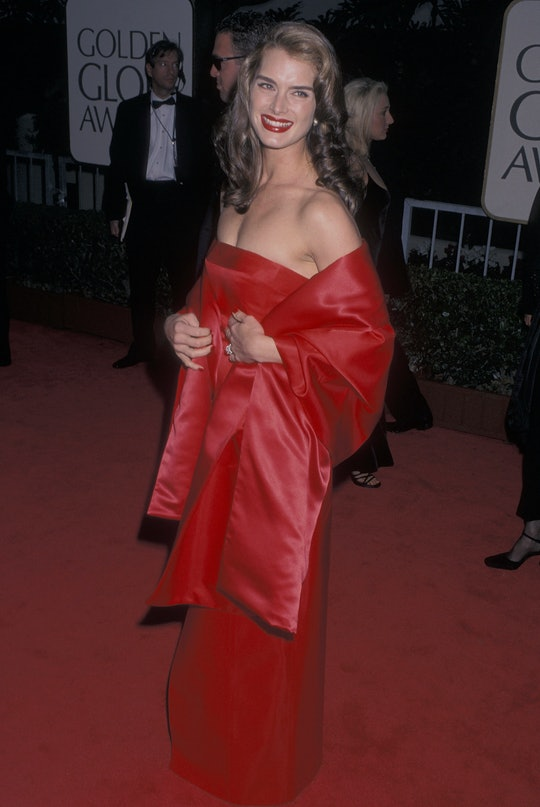 Brooke Shield's daughter wore her mother's 1998 Golden Globe gown to her high school prom.