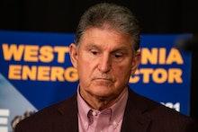 MORGANTOWN, WV - JUNE 03:   U.S. Sen. Joe Manchin (D-WV) attends a news conference at the Marriott H...