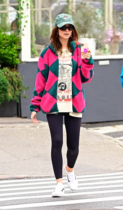 NEW YORK, NY - JUNE 03:  Emily Ratajkowski is seen walking in SoHo on June 3, 2021 in New York City.  (Photo by Raymond Hall/GC Images)
