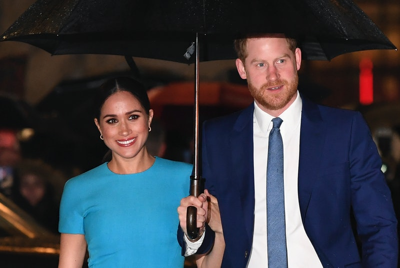 Britain's Prince Harry, Duke of Sussex (R) and Meghan, Duchess of Sussex arrive to attend the Endeavour Fund Awards at Mansion House in London on March 5, 2020. - The Endeavour Fund helps servicemen and women have the opportunity to rediscover their self-belief and fighting spirit through physical challenges. (Photo by DANIEL LEAL-OLIVAS / AFP) (Photo by DANIEL LEAL-OLIVAS/AFP via Getty Images)