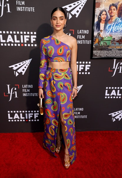 """HOLLYWOOD, CALIFORNIA - JUNE 04: Melissa Barrera attends the special preview screening of """"In The Heights"""" during the 2021 Los Angeles Latino International Film Festival at TCL Chinese Theatre on June 04, 2021 in Hollywood, California. (Photo by Kevin Winter/Getty Images)"""
