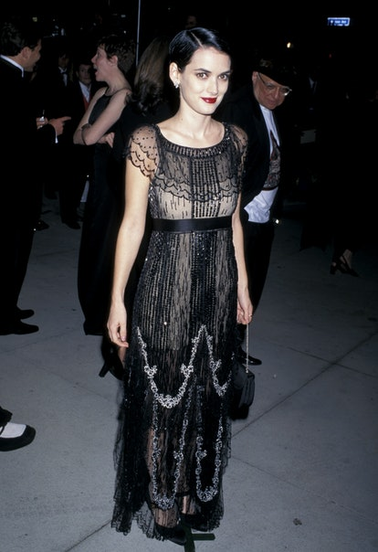 Winona Ryder at the 1997 Vanity Fair Oscar Party.