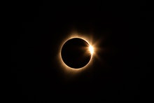 The total solar eclipse on 21 August 2017, as seen from Idaho. About 77 1/2 minutes after first cont...