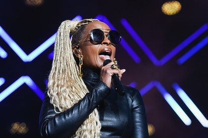 Mary J. Blige rocked platinum braids at the 2017 Essence Festival.