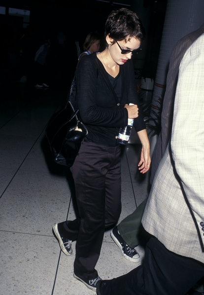 Winona Ryder at LAX airport in 1997.