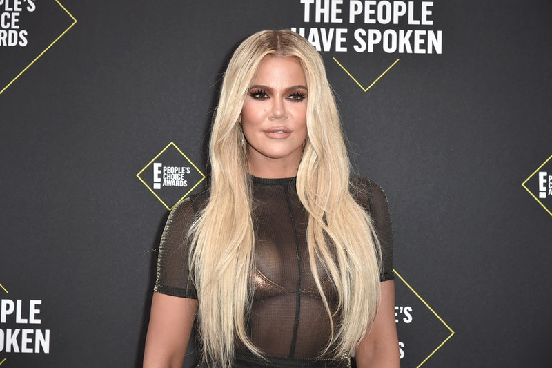 SANTA MONICA, CALIFORNIA - NOVEMBER 10: Khloe Kardashian attends 2019 E! People's Choice Awards - Arrivals at The Barker Hanger on November 10, 2019 in Santa Monica, California.  (Photo by David Crotty/Patrick McMullan via Getty Images)