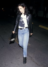 Winona Ryder at the premiere of The Commitments in 1991.