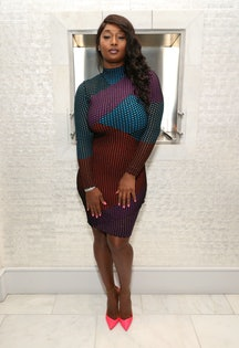 'America's Next Top Model' Alum  Toccara Jones Talks Her New Series 'Fit House.' (Photo by Rich Fury/Getty Images).