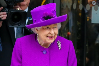 LONDON, UNITED KINGDOM - FEBRUARY 19: Queen Elizabeth II departs after officially opening of the new Royal National ENT and Eastman Hospitals on Huntley Street in London, United Kingdom on February 19, 2020. The state-of-the-art facility brings the Royal National Throat Nose and Ear (ENT) Hospital and the Eastman Dental Hospital together under one roof. (Photo by Dinendra Haria/Anadolu Agency via Getty Images)