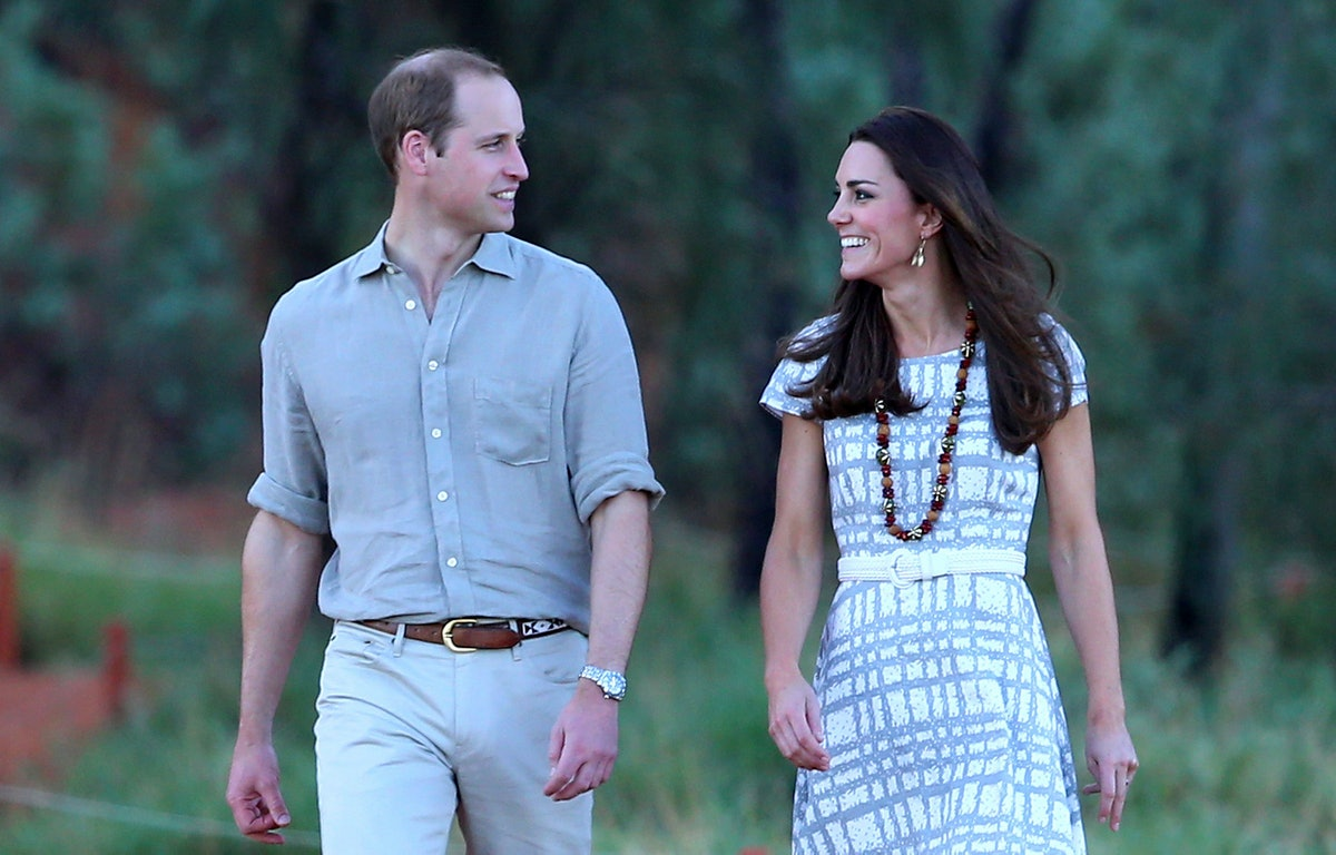 Will and Kate often walk in-step.