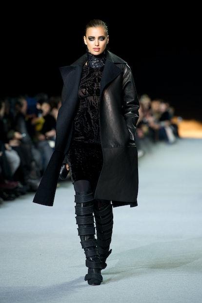 Irina Shayk previously modeled for Kanye West