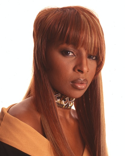 Mary J. Blige rocked asymmetric bangs for this '90s photoshoot.