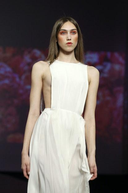Models at fashion week demonstrate the return of bold blush.