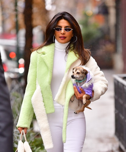 NEW YORK, NY - DECEMBER 16:  Priyanka Chopra seen on the streets of Manhattan on December 16, 2018 in New York City.  (Photo by James Devaney/GC Images)