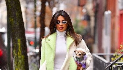 NEW YORK, NY - DECEMBER 16:  Priyanka Chopra seen on the streets of Manhattan on December 16, 2018 i...