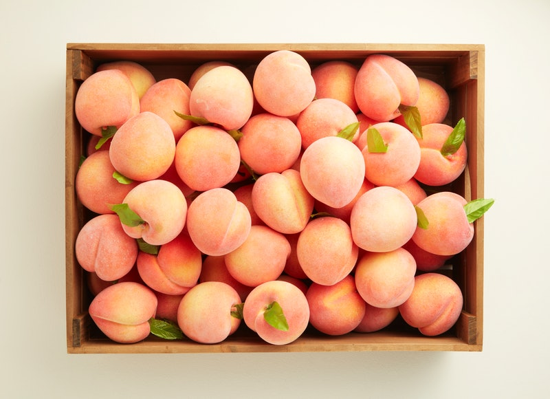 A box of peaches. Wondering how far can you put something up your bum? Doctors say actually, you should keep most things away from your butt.
