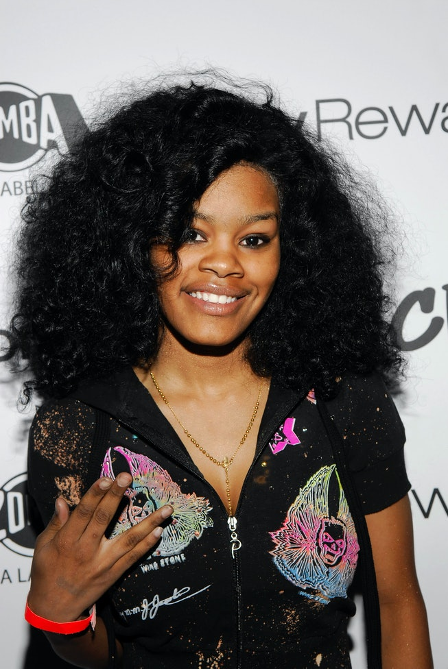 NEW YORK - MAY 06:  Recording artist Teyana Taylor arrives at Chris Brown's Birthday Bash at Avalon May 06, 2007 in New York City. (Photo by Ray Tamarra/Getty Images)