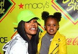 BROOKLYN, NY - SEPTEMBER 09:  Teyana Taylor and daughter Junie attend 2018 Essence Street Style Festival on September 9, 2018 in Brooklyn City.  (Photo by Dave Kotinsky/Getty Images for Essence)