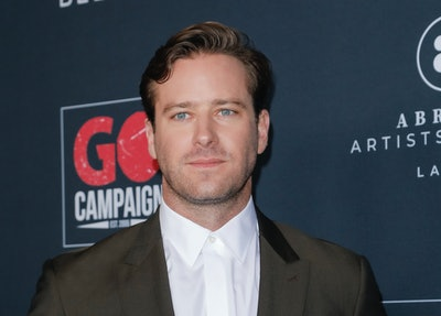 LOS ANGELES, CALIFORNIA - NOVEMBER 16: Armie Hammer attends the Go Campaign's 13th Annual Go Gala at NeueHouse Hollywood on November 16, 2019 in Los Angeles, California. (Photo by Tibrina Hobson/WireImage)