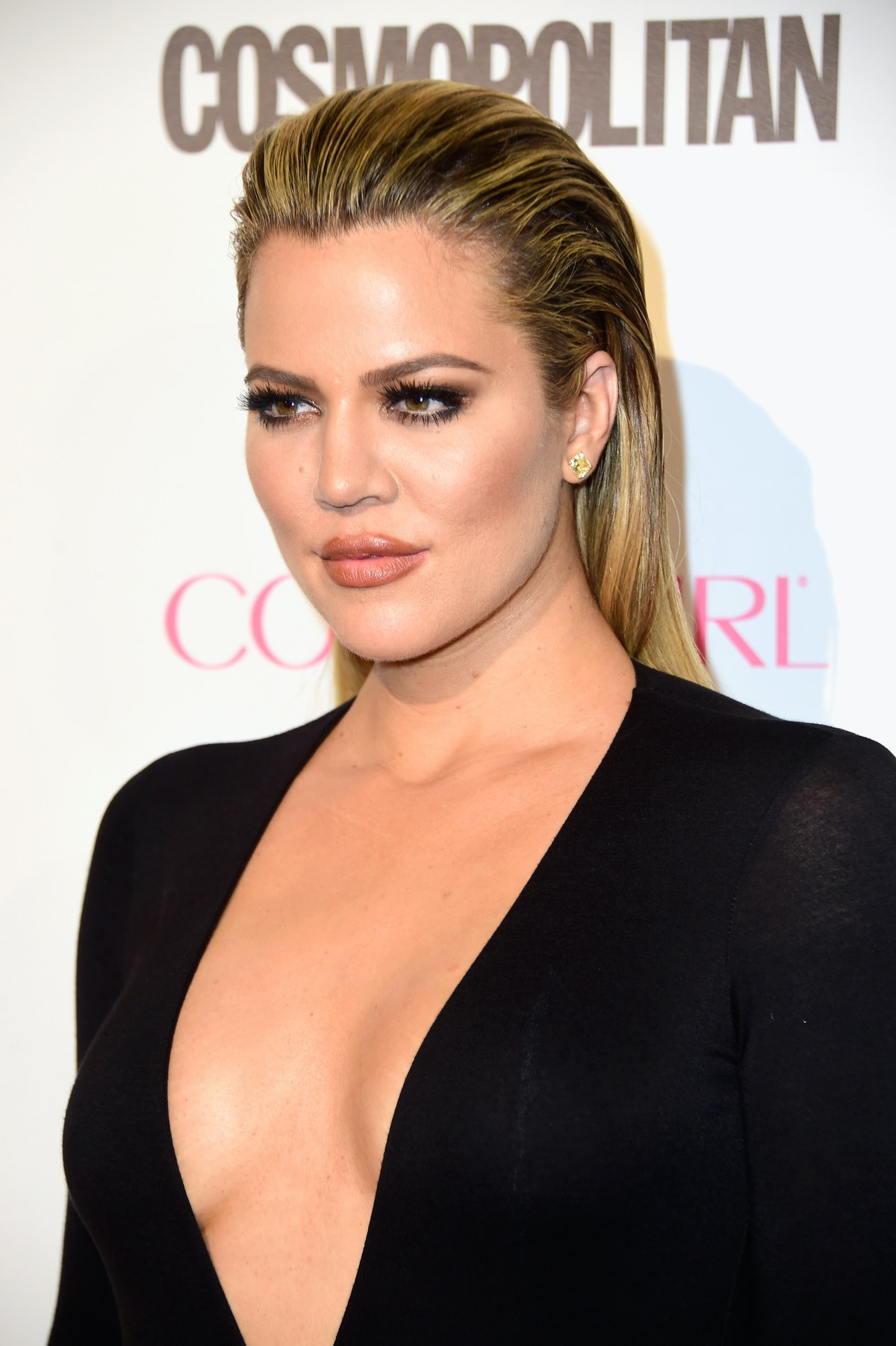 WEST HOLLYWOOD, CA - OCTOBER 12:  TV personality Khloe Kardashian attends Cosmopolitan's 50th Birthday Celebration at Ysabel on October 12, 2015 in West Hollywood, California.  (Photo by Frazer Harrison/Getty Images for Cosmopolitan)