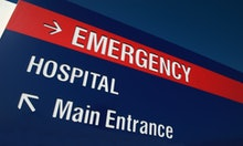 Direction Sign to hospital services. Need photos representing healthcare, particularly eye and denta...