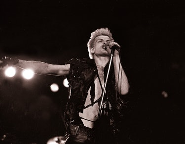 NEW YORK, NY - [July 1983]: Billy Idol  performs July 1983 in New York City. (Photo by Bill Tompkins...