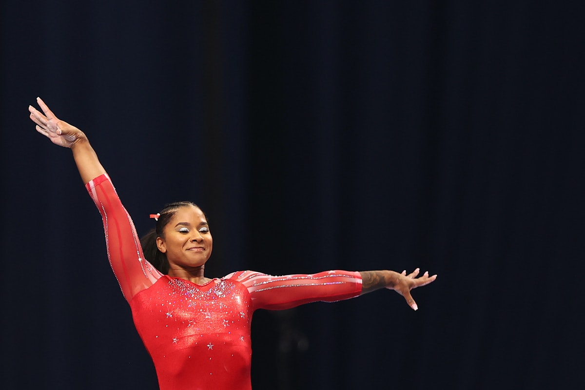 Jordan Chiles, who's headed to the 2021 Olympics, competes on the vault during the Women's competition of the 2021 U.S. Gymnastics Olympic Trials
