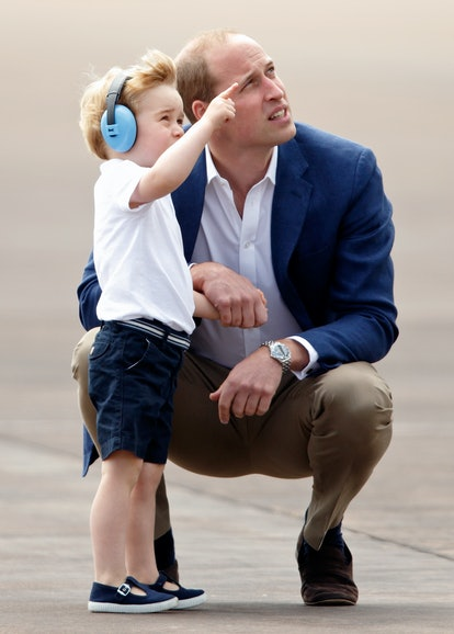 Prince William, Duke of Cambridge and Prince George of Cambridge visit the Royal International Air Tattoo at RAF Fairford