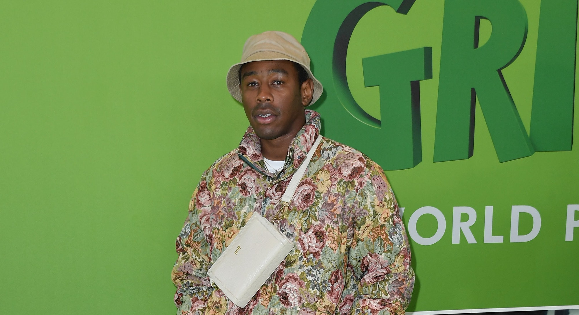 """Tyler, the Creator attends the premiere of """"Dr. Seuss' The Grinch"""" at Alice Tully Hall on November 3..."""