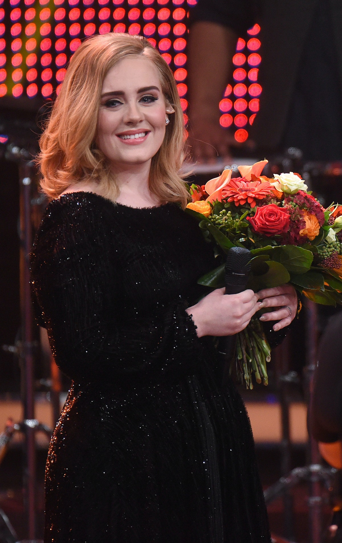 The singer Adele performs on stage during RTL's end-of-year review '2015! Menschen, Bilder, Emotione...
