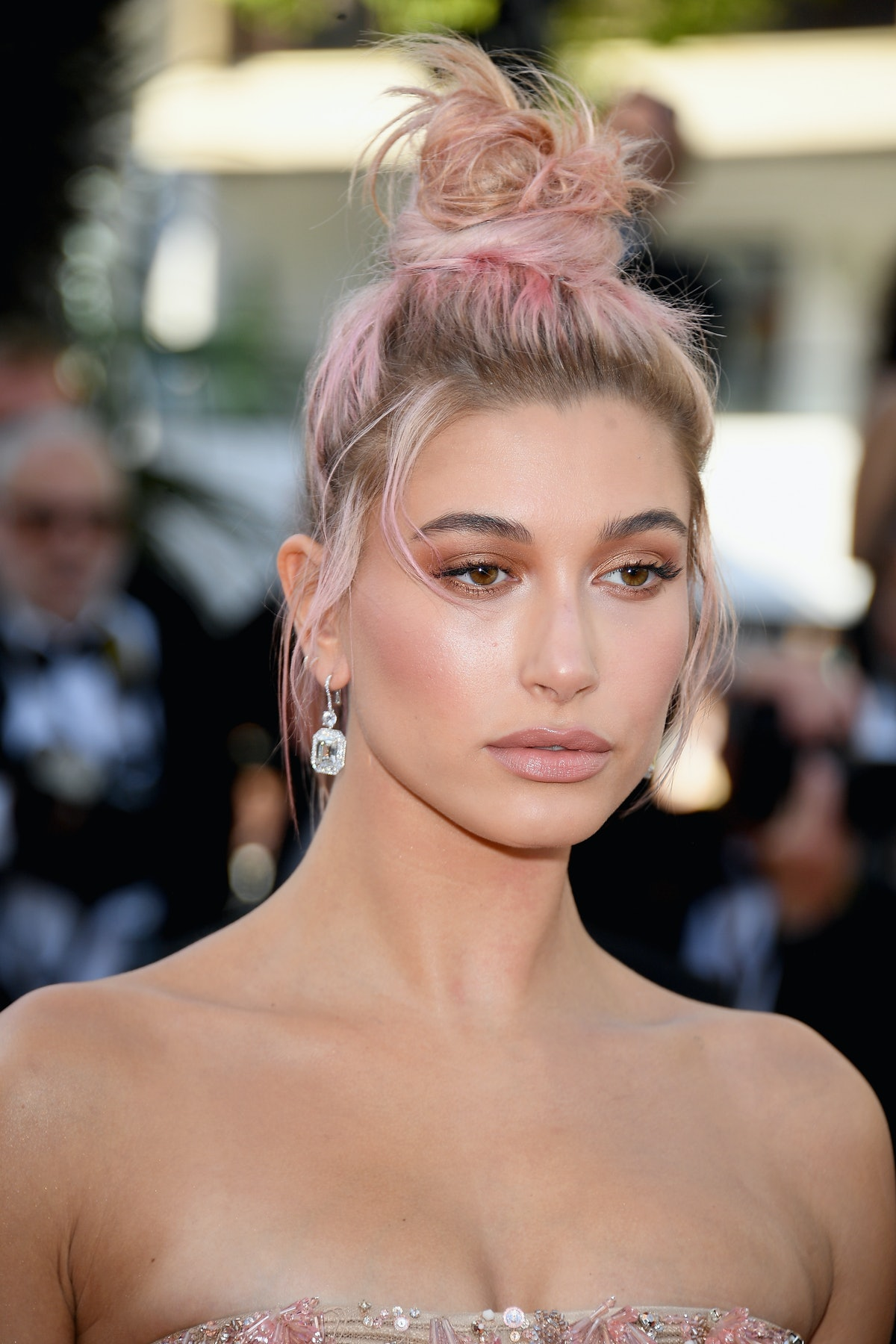 """CANNES, FRANCE - MAY 12:  Hailey Baldwin attends the screening of """"Girls Of The Sun (Les Filles Du S..."""