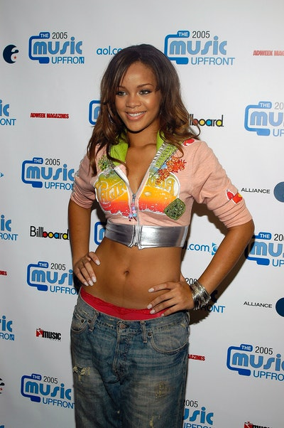 NEW YORK - SEPTEMBER 13:  Singer Rihanna attends the second annual Music UpFront Event September 13, 2005 in New York City.  (Photo by Steven A. Henry/Getty Images)