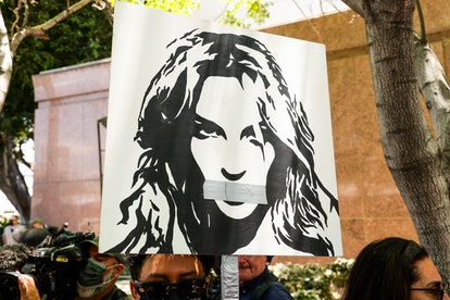 #FreeBritney activists protest at Los Angeles