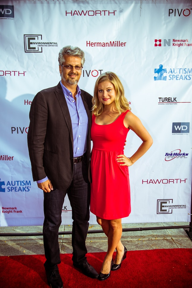 LOS ANGELES, CA – AUGUST 05:  Mark Vicente and Bonnie Piesse (L) attend Autism Speaks' 5th Annual Ce...