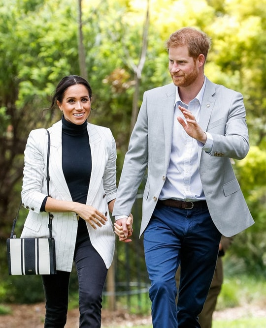 SYDNEY, AUSTRALIA - OCTOBER 21:  Prince Harry, Duke of Sussex and Meghan, Duchess of Sussex attend a...