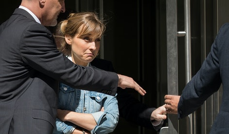 NEW YORK, NY - JUNE 12:  Actress Allison Mack exits the U.S. District Court for the Eastern District of New York following a status conference, June 12, 2018 in the Brooklyn borough of New York City. Mack was charged in April with sex trafficking for her involvement with a self-help organization for women that forced members into sexual acts with their leader. The group, called Nxivm, was led by founder Keith Raniere, who was arrested in March on sex-trafficking charges. (Photo by Drew Angerer/Getty Images)
