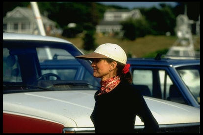 Former First Lady Jacqueline Kennedy Onassis poised smiling