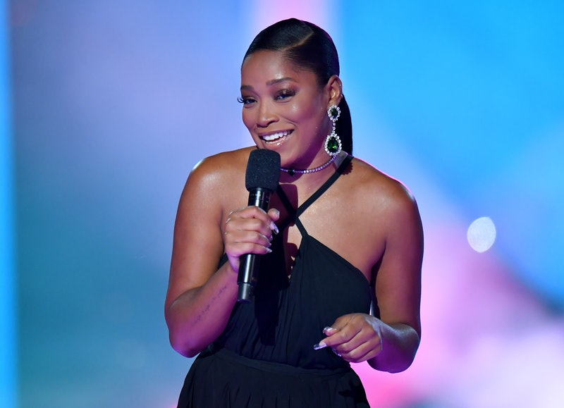 NEW YORK, NEW YORK - AUGUST 30: Keke Palmer speaks onstage during the 2020 MTV Video Music Awards at the Skyline Drive-In, broadcast on Sunday, August 30, 2020 in New York City. (Photo by Jeff Kravitz/MTV VMAs 2020/Getty Images for MTV)