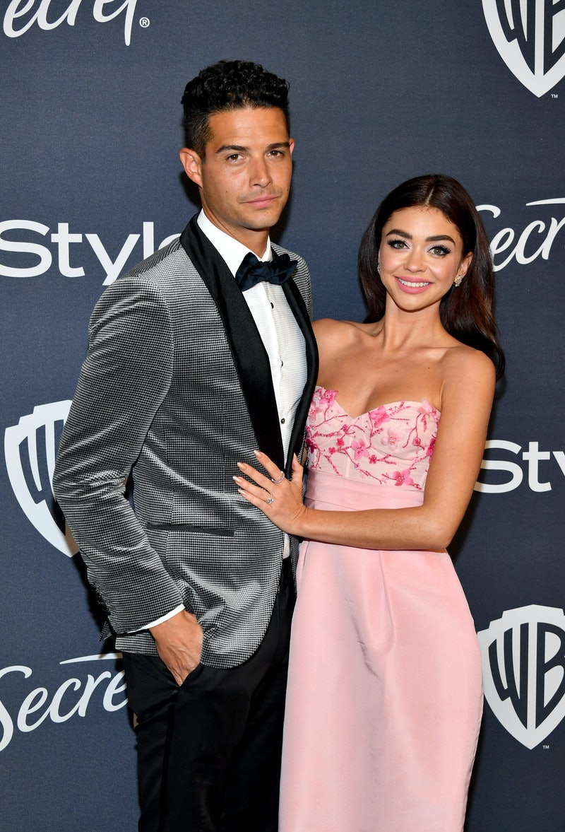 BEVERLY HILLS, CALIFORNIA - JANUARY 05: (L-R) Wells Adams and Sarah Hyland attend the 21st Annual Warner Bros. And InStyle Golden Globe After Party at The Beverly Hilton Hotel on January 05, 2020 in Beverly Hills, California. (Photo by Amy Sussman/Getty Images)