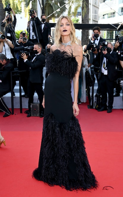 """CANNES, FRANCE - JULY 10: Anja Rubik attends the """"De Son Vivant (Peaceful)"""" screening during the 74t..."""