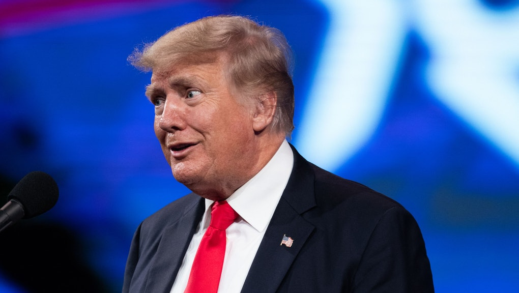 Former US President Donald Trump speaks at the Conservative Political Action Conference (CPAC) in Da...