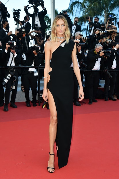 """CANNES, FRANCE - JULY 09: Anja Rubik attends the """"Benedetta"""" screening during the 74th annual Cannes..."""