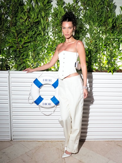 CANNES, FRANCE - JULY 10: Bella Hadid attends the Dior dinner during the 74th annual Cannes Film Fes...